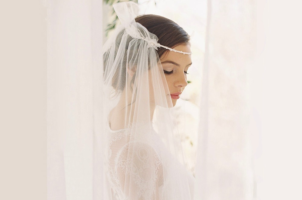 Tulle Halo Veil For Bohemian Brides