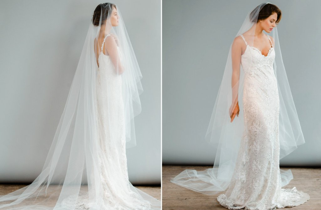 Simple-cathedral-length-tulle-layered-wedding-veil.full