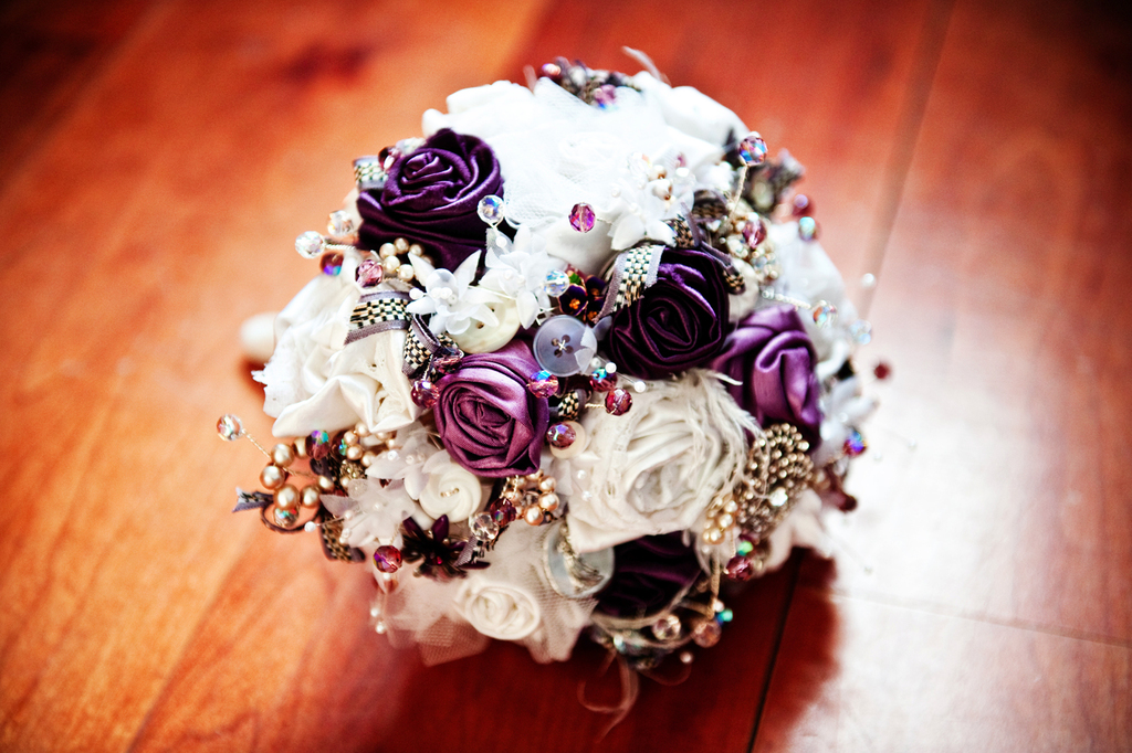 Purple-ivory-brooch-bouquet-unique-wedding-flowers.full