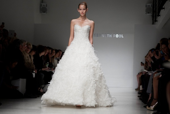 Embellished ivory a-line wedding dress