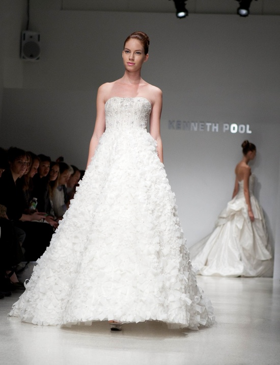 Embellished full a-line wedding dress