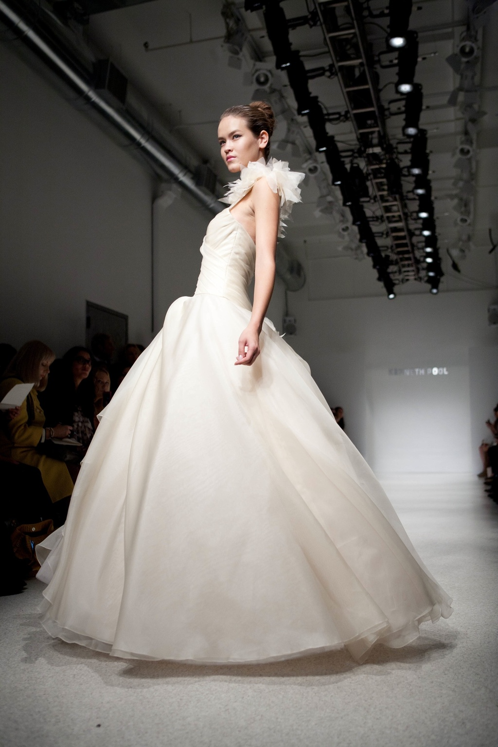 Ivory ballgown wedding dress by Kenneth Pool