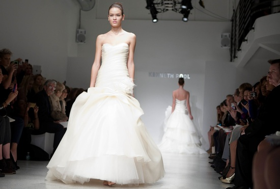 Classic drop-waist mermaid wedding dress by Kenneth Pool