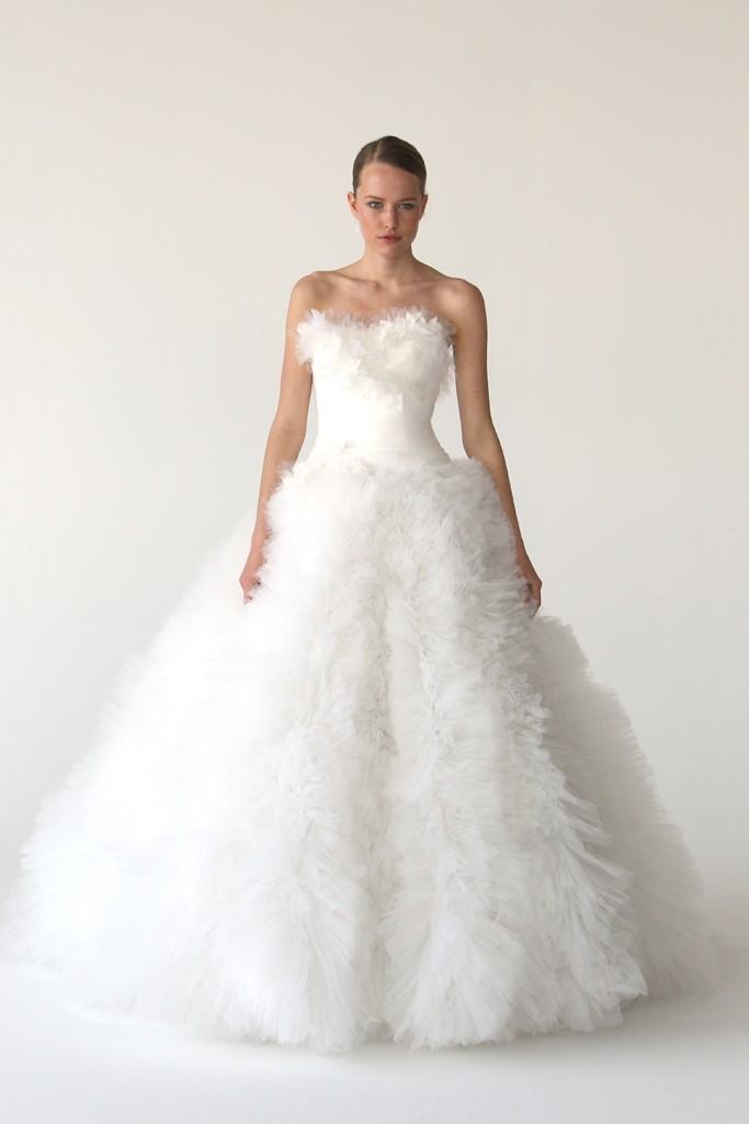 Modern Mermaid Wedding Dress By Marchesa