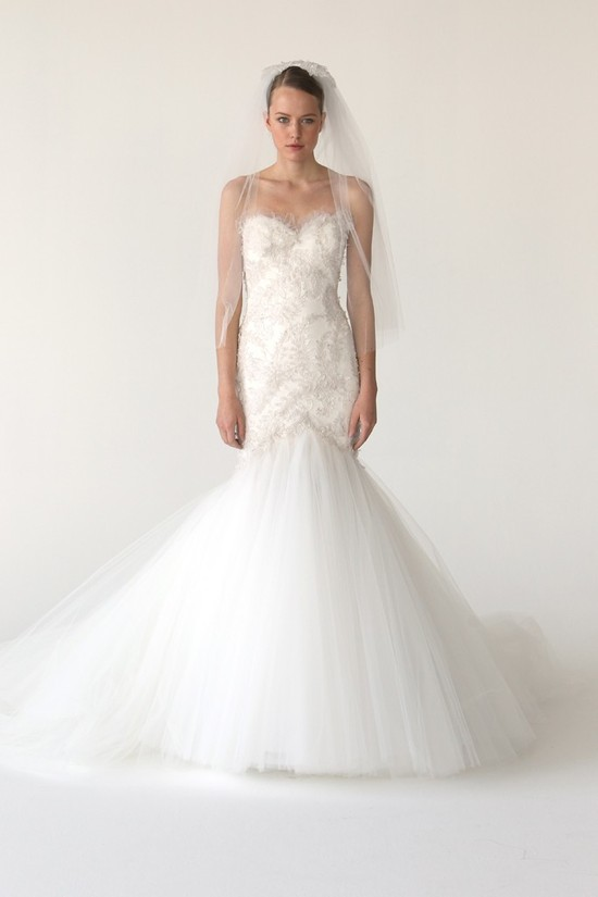 Mermaid wedding dress by Marchesa