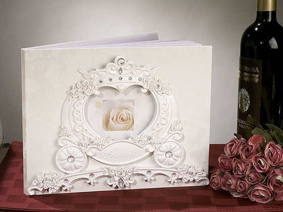 Fairy Tale Coach Wedding Guest Book