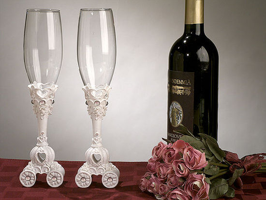 Fairy Tale Coach Wedding Toasting Glasses