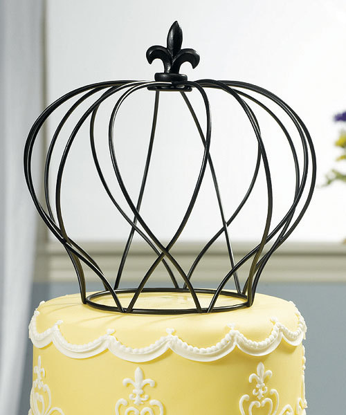 Large Wire Crown Cake Topper 2