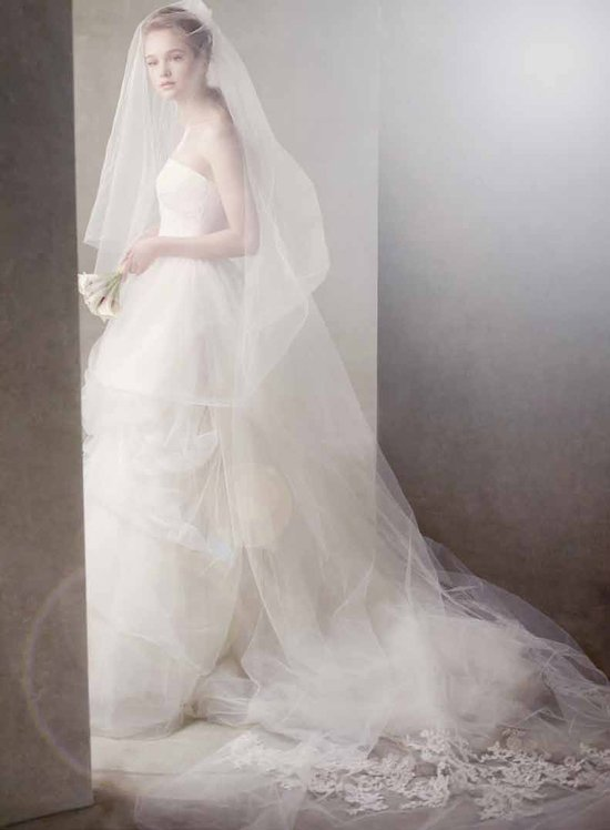 Romantic bridal veil by Vera Wang