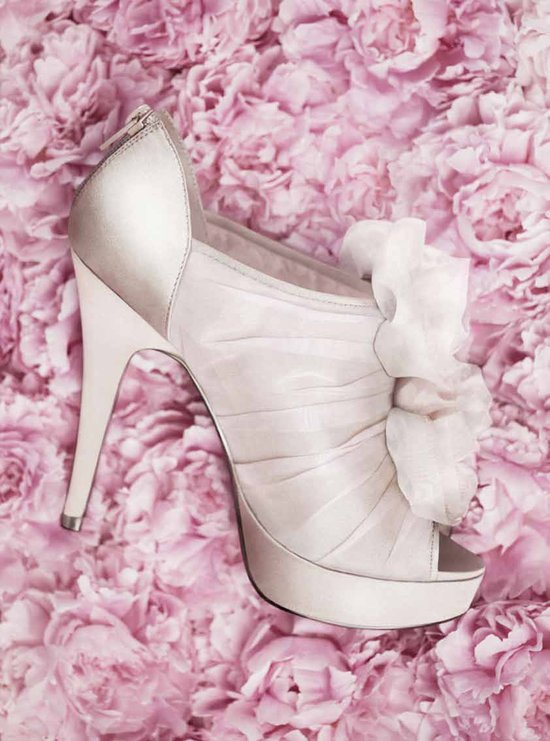 Ivory platform wedding shoes