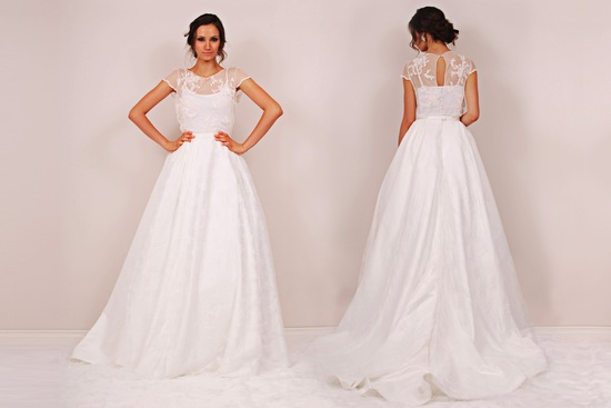 Chambers Minetta wedding dress by Sunjin Lee 2014 bridal two piece