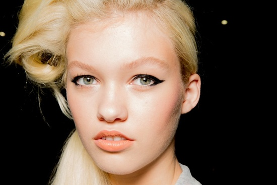 Rodarte Fashion Week Inspiration - Cat eyes + peach lips