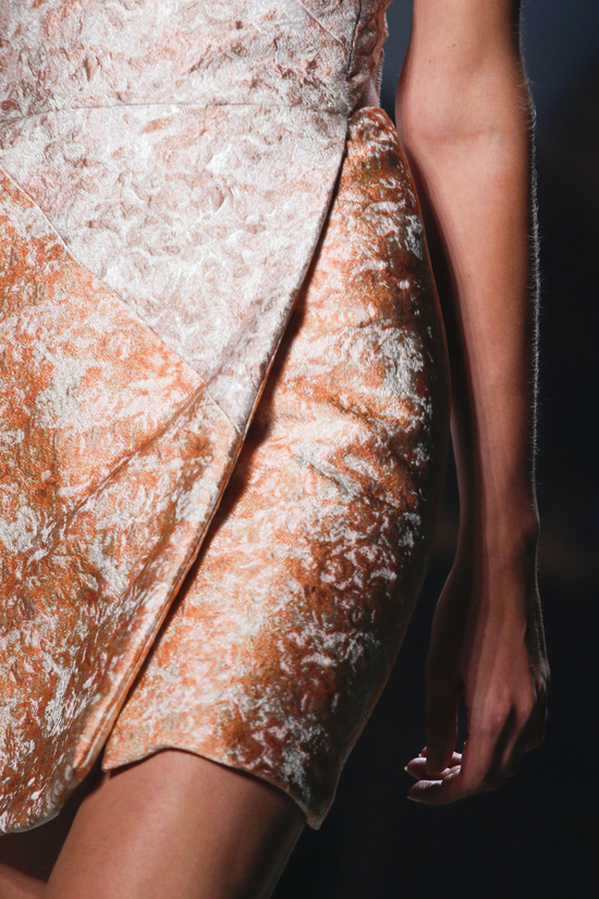 Narciso Rodriguez Fashion Week Inspiration - Metallic Dress Detail Shot