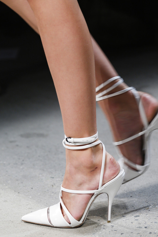 Narciso Rodriguez Fashion Week Inspiration - White Strappy Stilettos