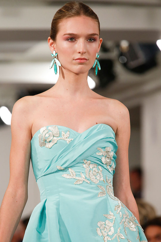 Oscar de la Renta Fashion Week Inspiration - Colorful Chandelier Earrings
