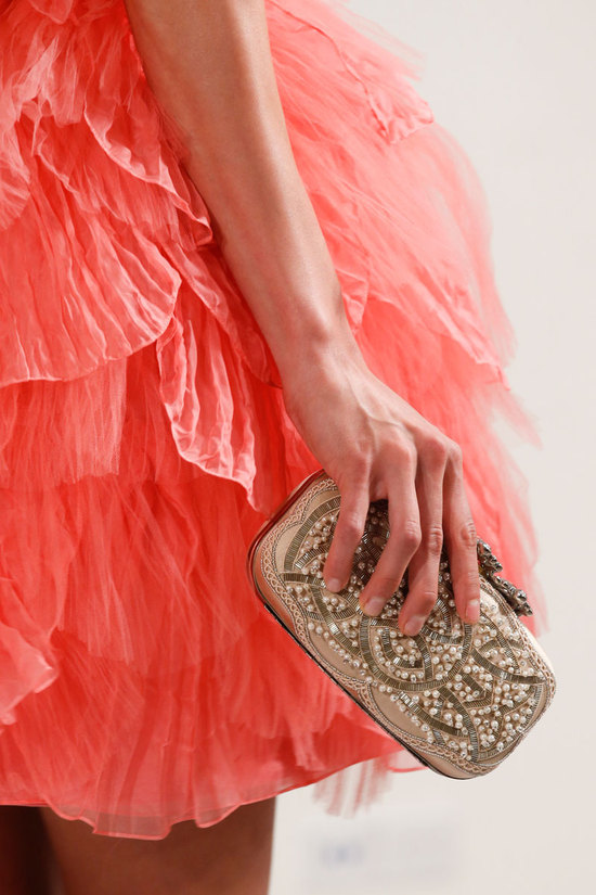 Oscar de la Renta Fashion Week Inspiration - Embroidered Clutch