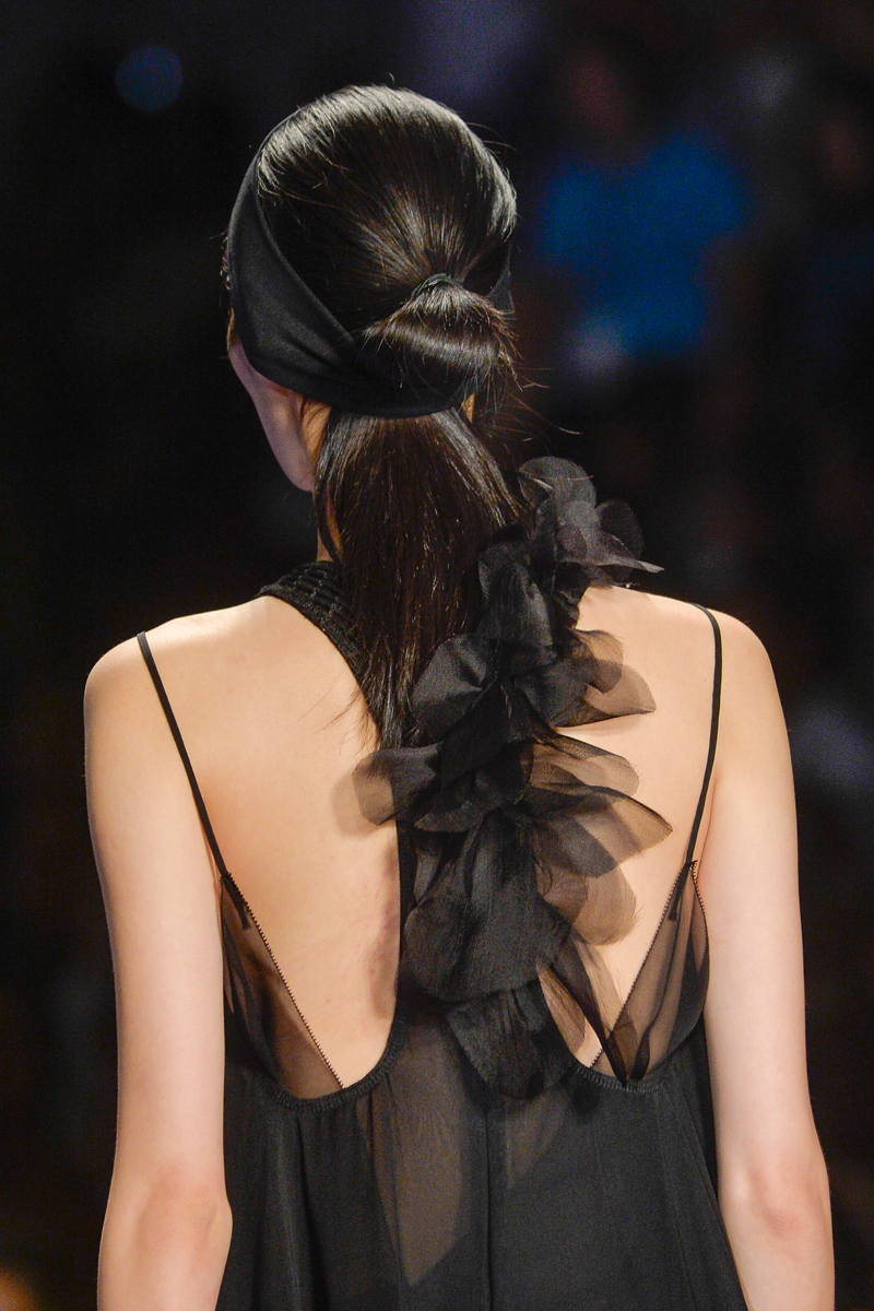 Vera Wang Fashion Week Inspiration - Silky smooth ponytail