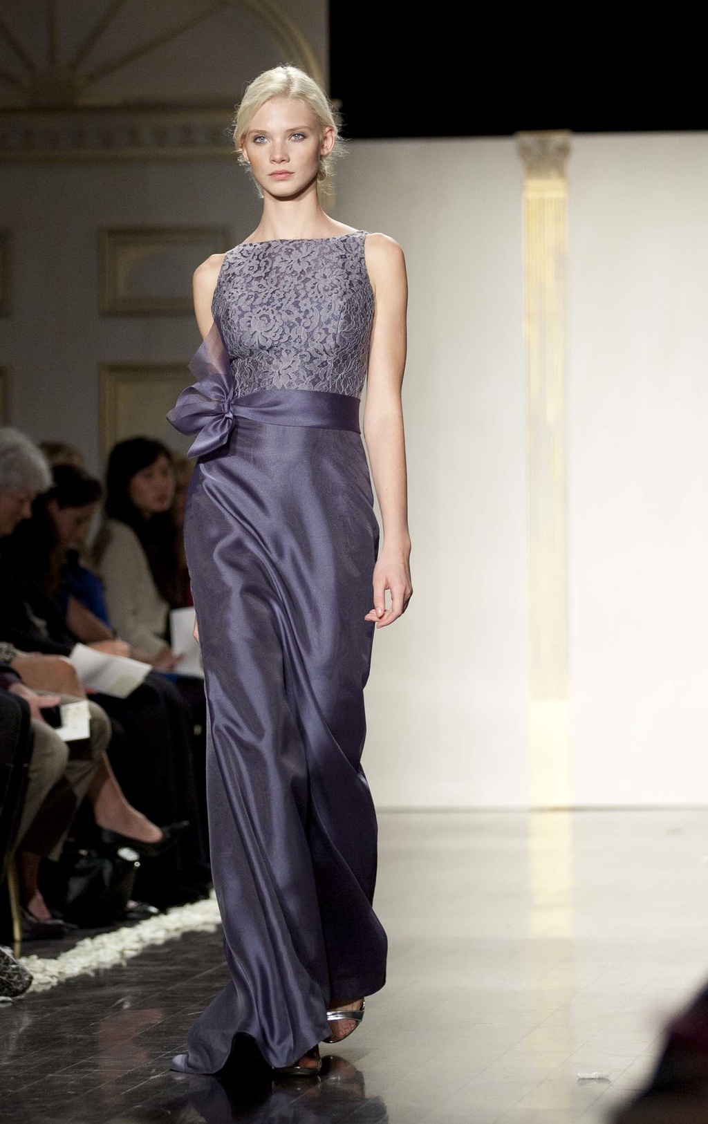 Lazaro ideabook by onewed inspiration on onewed full length bridesmaid dress in shimmery navy ombrellifo Image collections