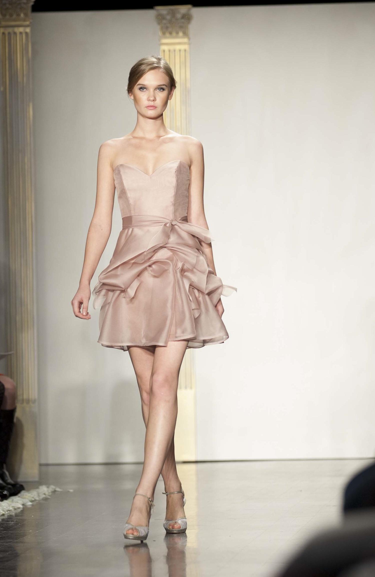 Iridescent bridesmaid dress