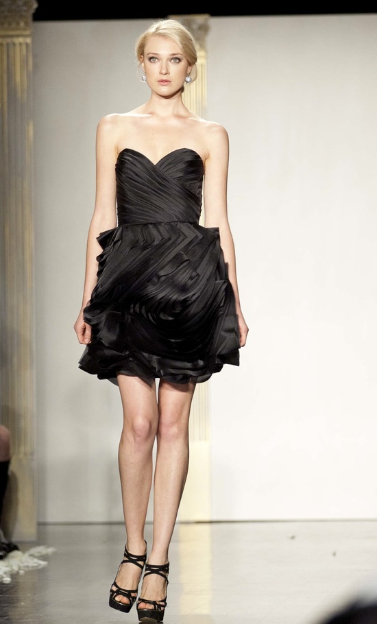 Short black bridesmaid dress