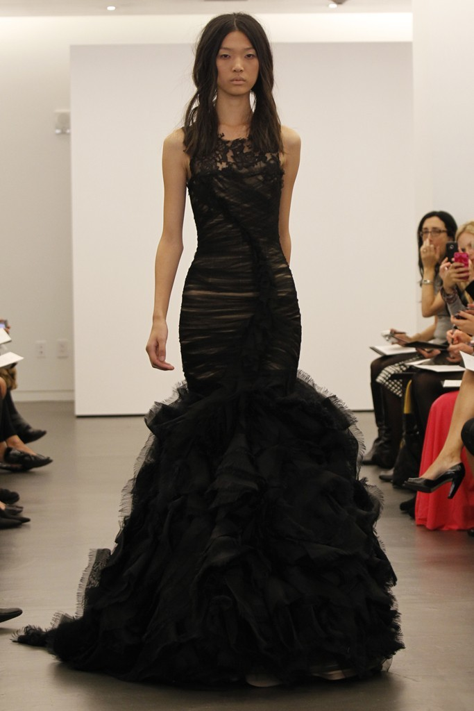Black wedding dress by Vera Wang