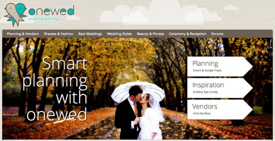 Get ready to love wedding planning with the new onewed.com