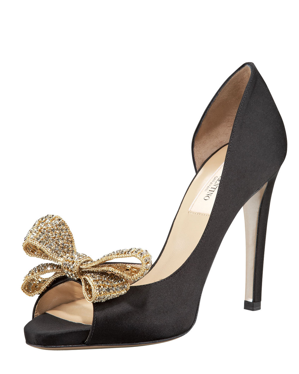 Timeless Valentino Couture Jewelry Bow d'Orsay Pumps