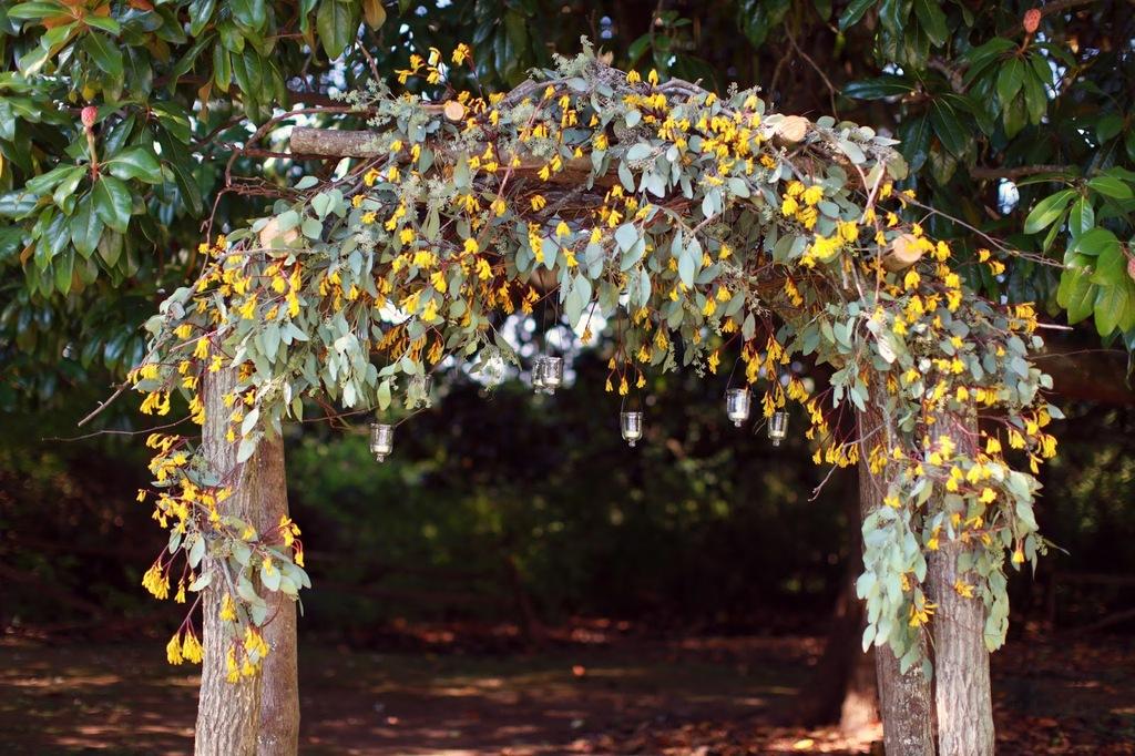 Enchanted-fall-wedding-arbor-sage-yellow-and-wood.full