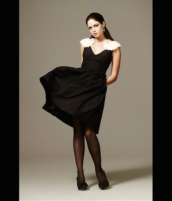 Black-bridesmaid-dress-feather-bolero.full