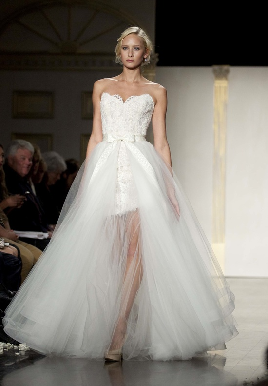 Romantic 2-in-1 wedding dress