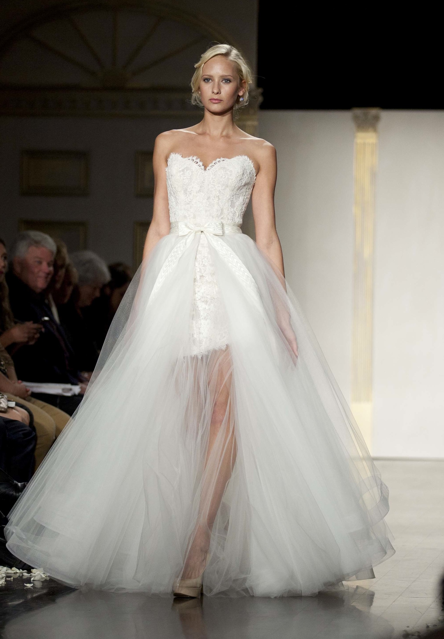 romantic 2 in 1 wedding dress