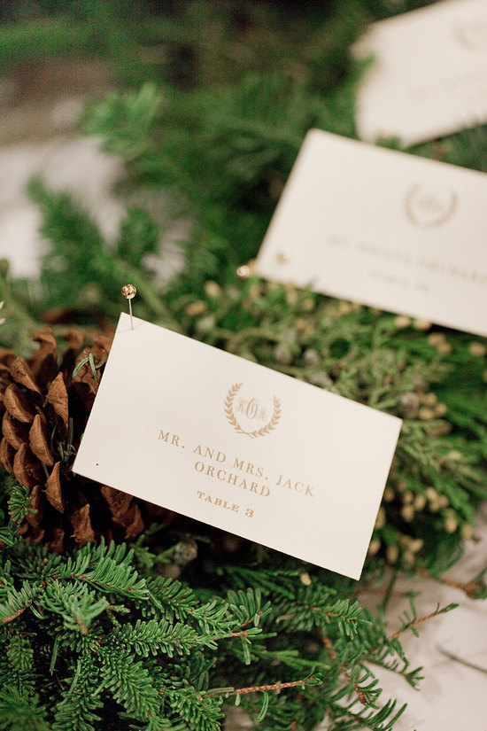 Elegant Fall Wedding Escort Cards In Cream And Gold