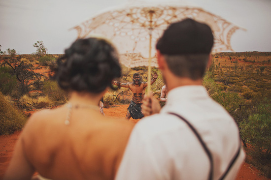 Eloped in Uluru - Celebrating with the Natives