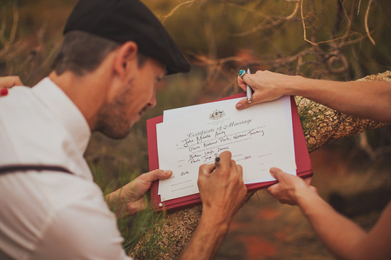 Eloped in Uluru - Making it Official