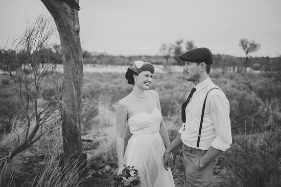 Eloped in Uluru - Black and White Portraits