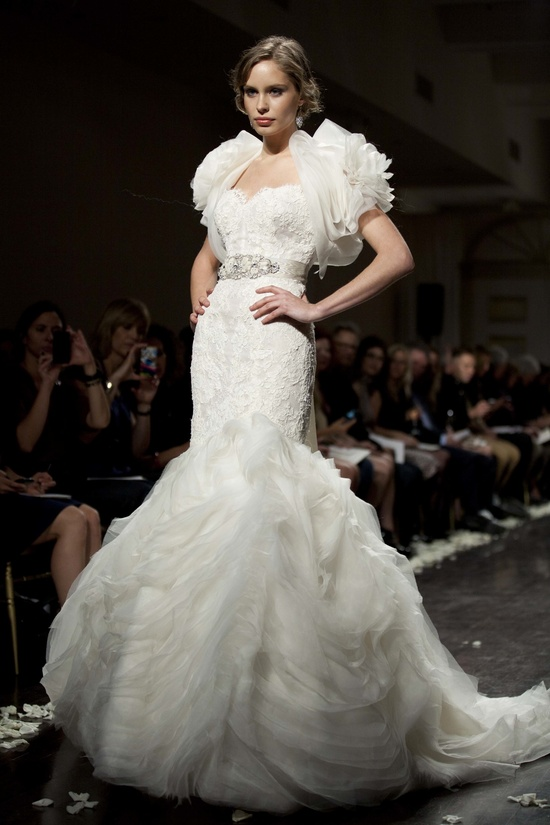 Dramatic mermaid wedding dress