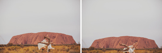 Eloped in Uluru - Frolicking in the desert