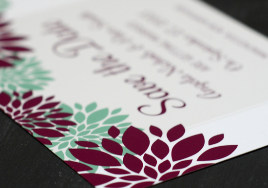 Modern Red and White Invitation