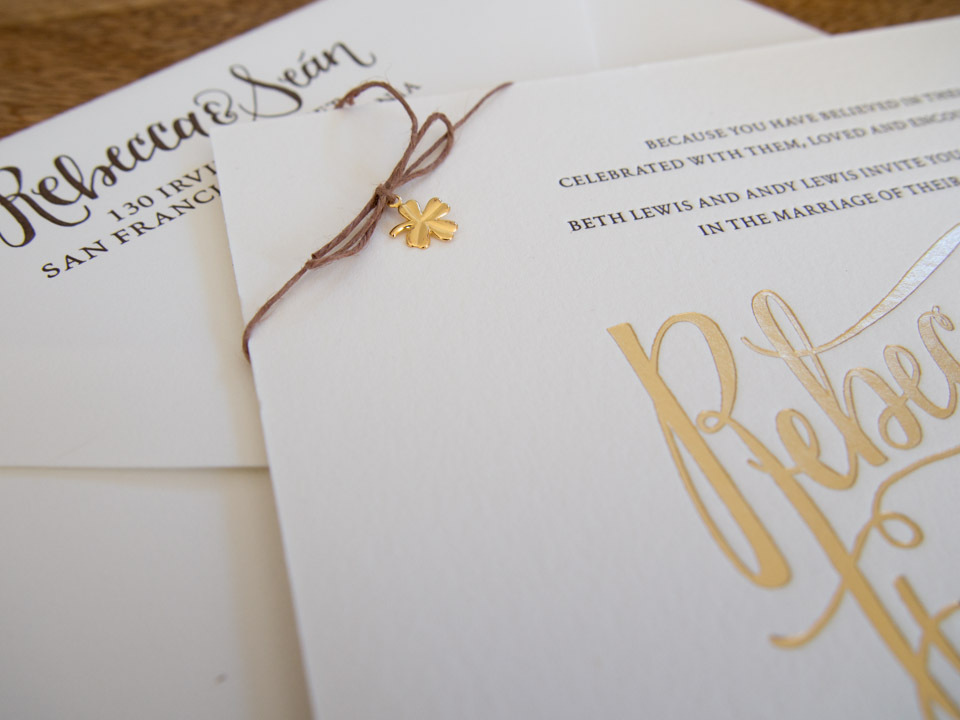 Gold Foiled Invitation