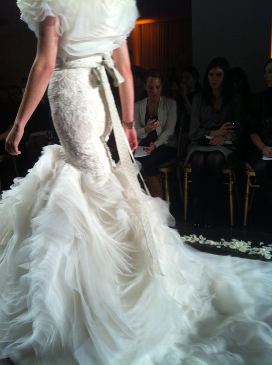 Drop waist mermaid wedding dress, Fall 2012 Lazaro