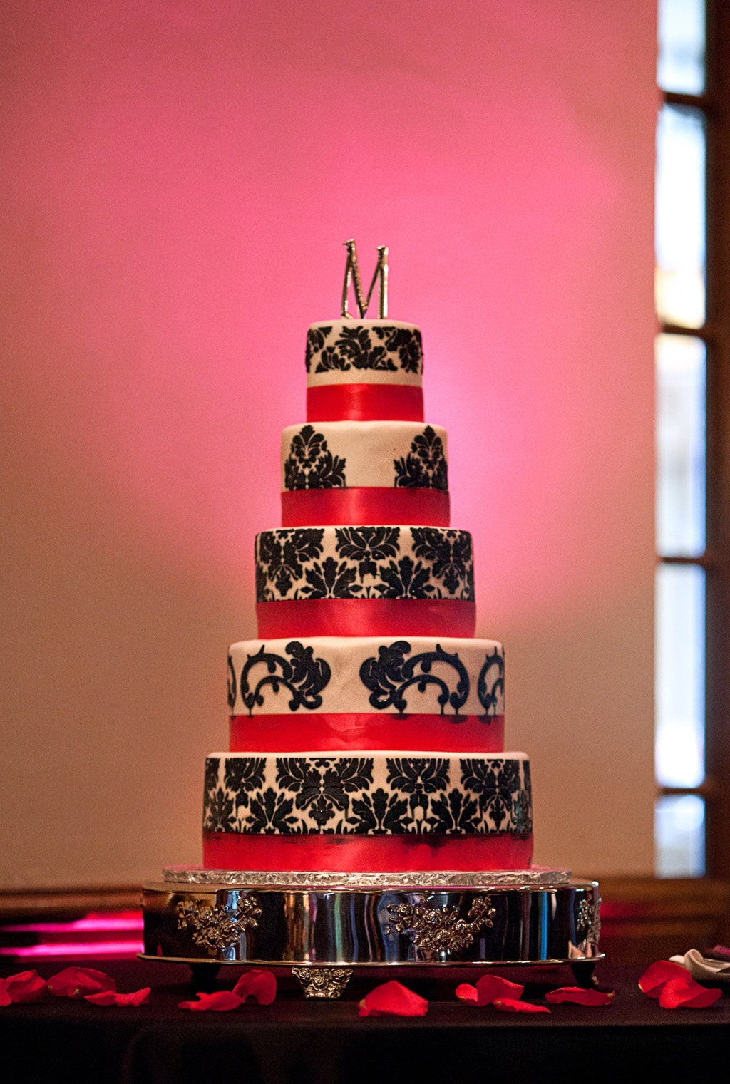 Hot Pink, Green with Black + White Damask Real Wedding\' Ideabook by ...