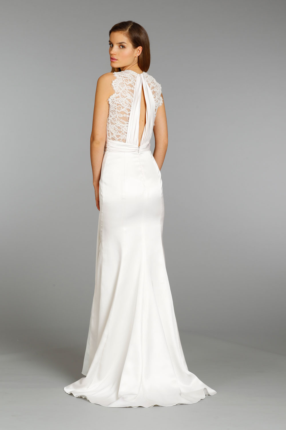 Wedding dress by jim hjelm 2013 bridal lace statement back for Jim hjelm wedding dresses