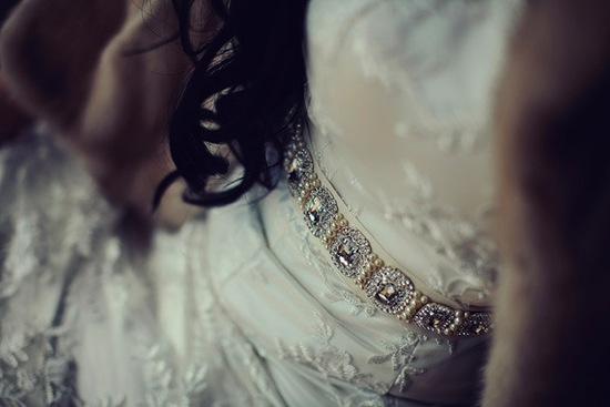 pearl and crystal beaded wedding sash