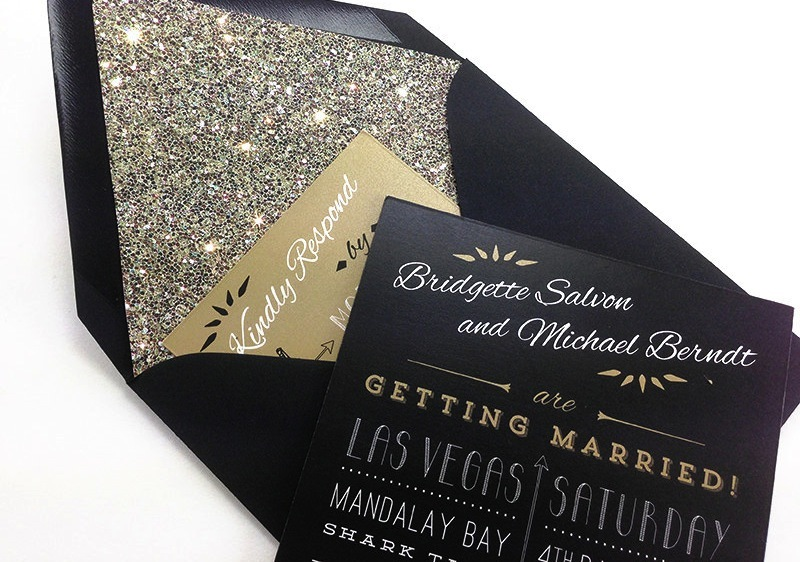 Black And Gold Wedding Invitations 014 - Black And Gold Wedding Invitations