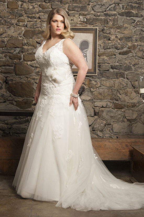 Classic V-Neck Bridal Gown