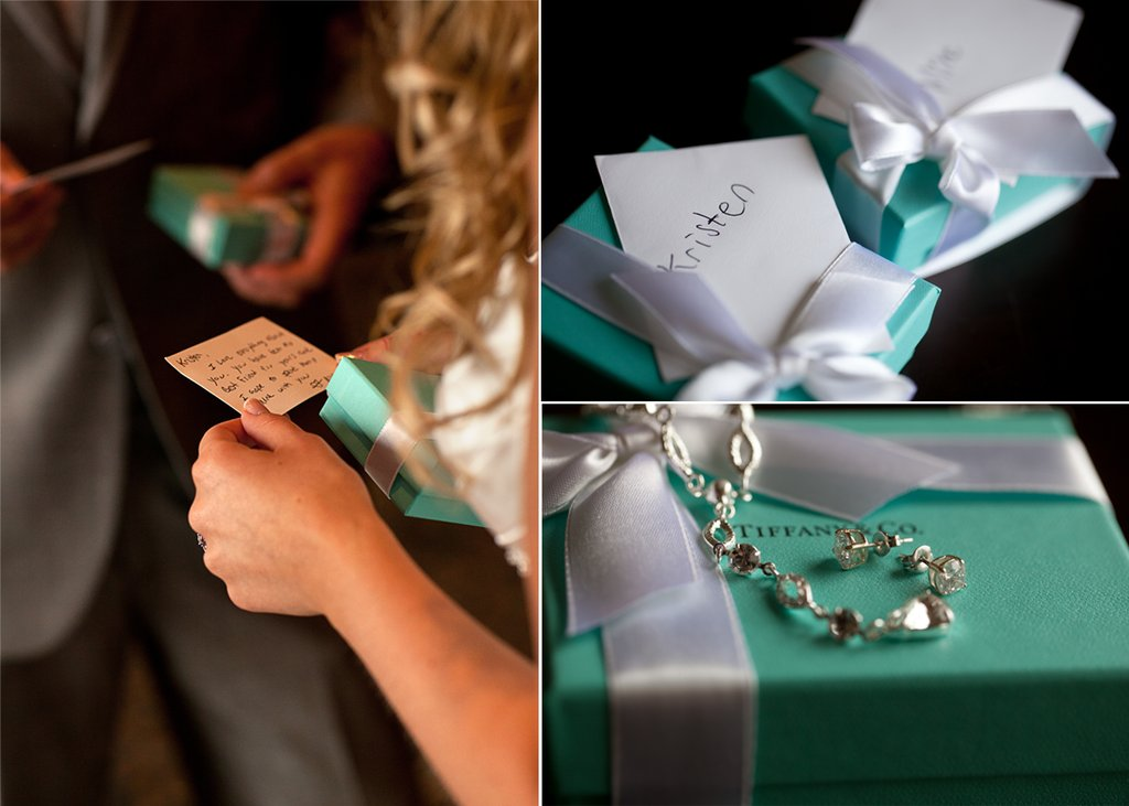 Bride Wears Tiffany S Bridal Bracelet And Groom Exchange Wedding Gifts