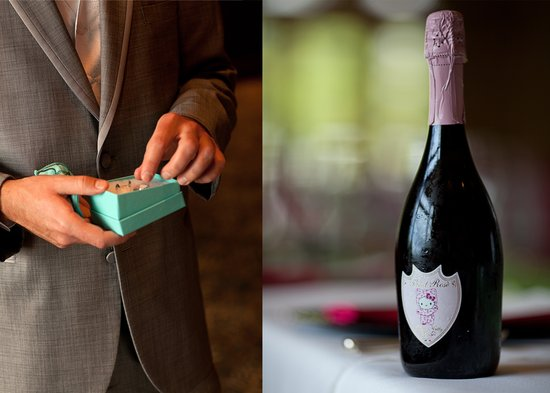 Hello Kitty champagne for the wedding reception