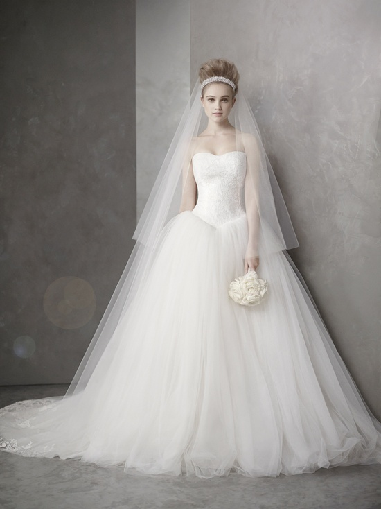 Classic ballgown wedding dress inspired by Kim Kardashian's Vera Wang gown