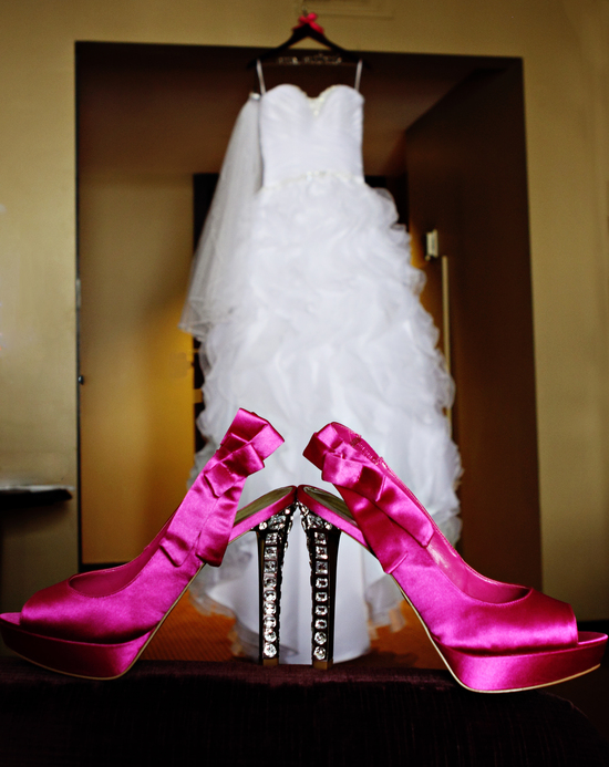 Classy Pink Wedding Shoes