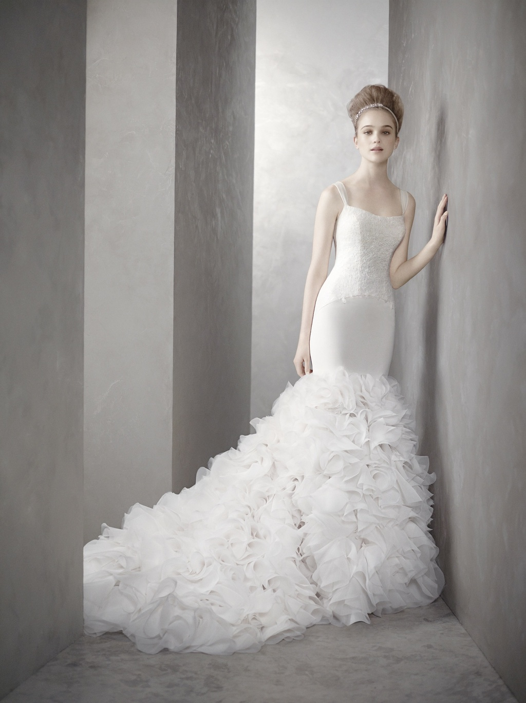 White by vera wang wedding dress style inspired by kim for White vera wang wedding dresses